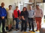 Dr. José María Sánchez del CIEMAT (España) e Ing. Mg. Ma. Luisa Ojeda del CERE-UMAG (al centro a la derecha), junto a investigadores especialistas en gasificación, del Depto. Ing. Mecánica Facultad de Ingeniería UDEC. En extremo derecho Dr. Oscar Farías, anfitrión de la gira a Universidad de Concepción.