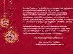 Feliz Navidad y Año Nuevo PACE UMAG